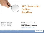 SEO Secrets for Online Retailers We...