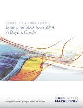 Enterprise SEO Tool 2014: A Buyer's...