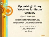 Optimizing Library Websites for Bet...