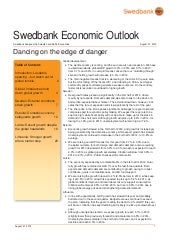Swedbank Economic Outlook - August ...