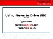 Using Online News to Drive SEO