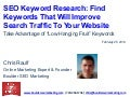 "SEO Keyword Research - Find The ""Low Hanging Fruit"" Keywords"