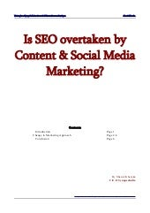 Seo overtaken by content & social media marketing by shamit khemka