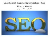Seo (search engine optimization) an...