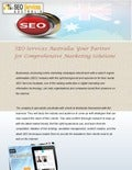 SEO Services Australia: Your Partner for Comprehensive Marketing Solutions