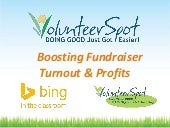 Boosting Fundraiser Turnout & Profits