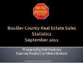 Boulder Real Estate Statistics Sept...