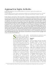 Septic arthritis adult