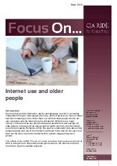 Focus on..internet use and older pe...