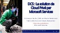 DCS : La solution de Cloud Privé par Microsoft Services