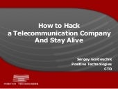 Sergey Gordeychik - How to hack a t...