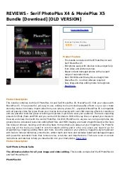 Serif photo plus x4 & movieplus x5 ...