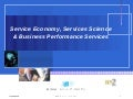 Service Economy, Services Science and Business Performance Services ( in Japanese )