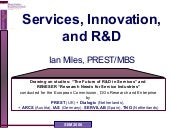 Service Innovation and R&D