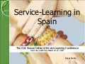 Service-learning in Spain