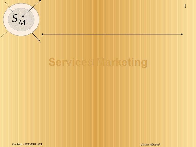 Service marketing essay
