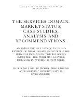 Services Domain Status Report Issue...
