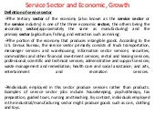 Service sector and economic, growth