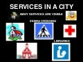 Services in a city