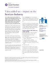 Puerto Rico: Value Added Tax -  Impact on the Services Industry