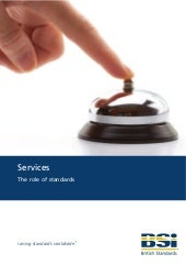Services - The role of standards