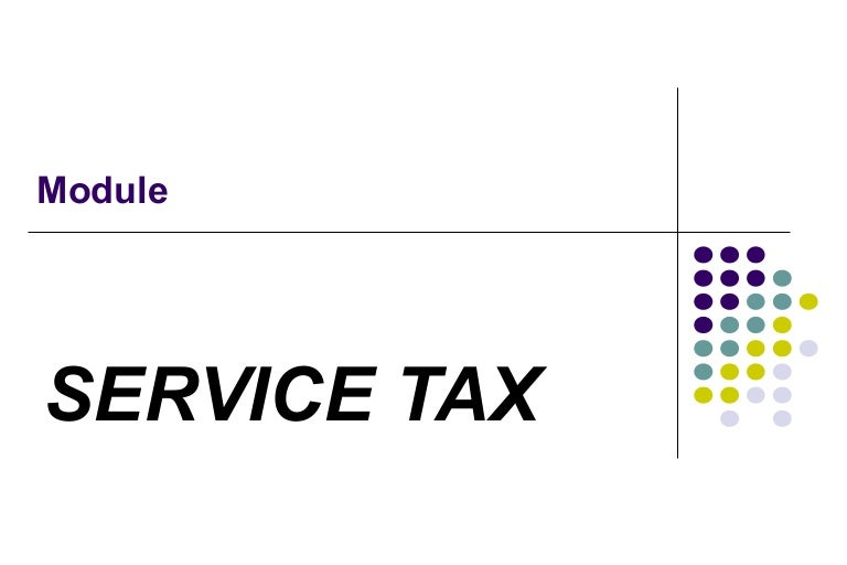 Research paper on service tax