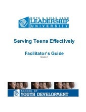 Serving teens effectively facilitat...