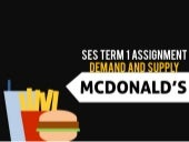 Demand and Supply (McDonalds)