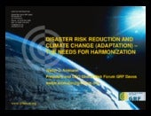 DISASTER RISK REDUCTION AND CLIMATE...