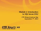 Session 2: SQL Server 2012 with Chr...