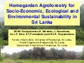 Session 2.2 homegarden agroforestry for sustainability in sri lanka
