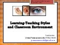 Teaching-Learning Styles and Classroom Environment