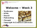 TAA eLearn Course - Presentation Week 3