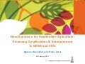 Financing Smallholder & Entrepreneurs in NENA and CEN