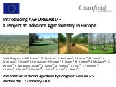 Session 5.5 Introducing AGFORWARD –...