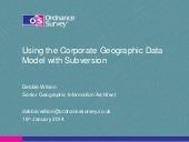 Using the Corporate Geographic Data...