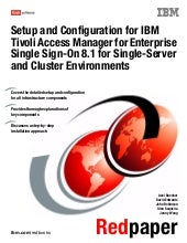 Setup and configuration for ibm tiv...