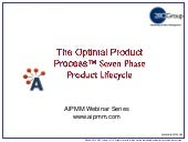 The Optimal Product Process Seven Phase Product Management Lifecycle