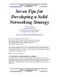 Sales Leadership Speaker offers career transition advice - Developing a Solid Business Networking Strategy