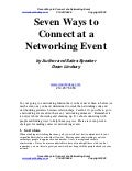 Sales Management Speaker on Connecting at Business Networking Event Selling in Tough economic times