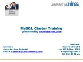 Severalnines Self-Training: MySQL® Cluster - Part VII