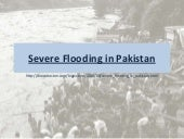 Severe flooding in pakistan  - 2010