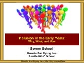 Severn School Inclusion in the Early Years