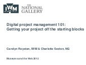 Digital project management 101: Getting your project off the starting blocks