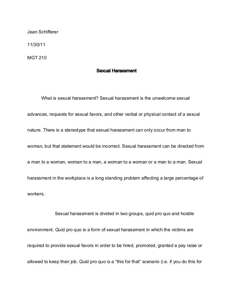 essay on sexual harassment sexual harassment paper essay about the  sexual harassment paper