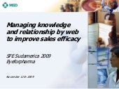 Managing knowledge and relationship...