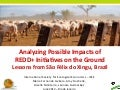 Analyzing possible impacts of REDD+ initiatives on the ground: lessons from São Félix do Xingu, Brazil