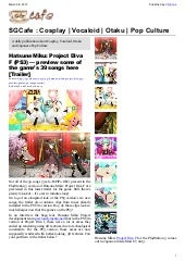SGcafe Anime News For Otaku Mar 201...