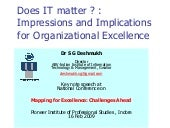 Sgd it-for-organizational-excellence-pies-indore