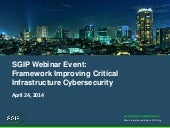 SGIP April 24 Cybersecurity Framewo...